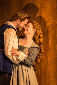 Orlando James as Will and Eve Ponsonby as Viola. Pic Johan Persson.