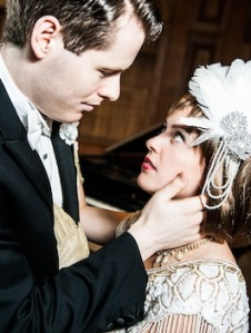 Max Ross as Jay Gatsby and Celia Cruwys-Finnigan as Daisy Buchanan.